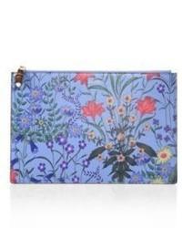 Flora print leather pouch medium 4414685