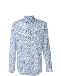 Light Blue Print Long Sleeve Shirt