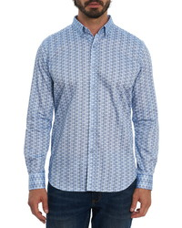Robert Graham Burdon Regular Fit Stripe Button Up Shirt
