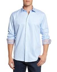 Classic fit diamond print sport shirt medium 4342816