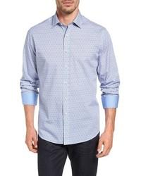 Classic fit marble print sport shirt medium 816170