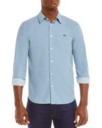 Lacoste Slim Fit Tennis Ball Print Button Up Shirt