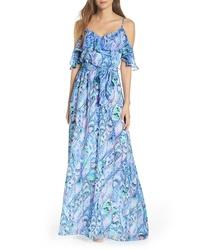 Lilly Pulitzer Zadi Cold Shoulder Maxi Dress