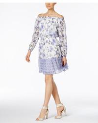 ECI Off The Shoulder Peasant Dress