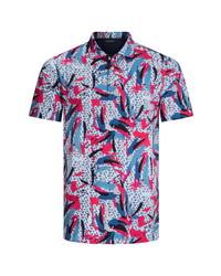 Bugatchi Abstract Digital Print Polo Shirt