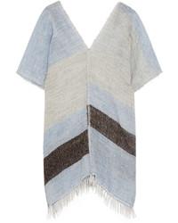 Lemlem Tebiki Striped Merino Wool Blend Poncho