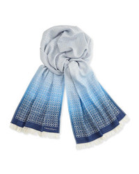 Light Blue Print Scarf
