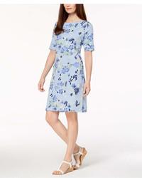 Karen Scott Petite Printed Shift Dress Created For Macys
