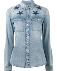 Givenchy Star Printed Denim Shirt