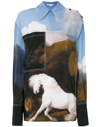 Stella McCartney Oversized Horse Printed Shirt