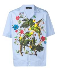 DSQUARED2 Birds Print Shortsleeved Shirt