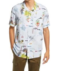 Vans Gallery Nathan Short Sleeve Button Up Camp Shirt