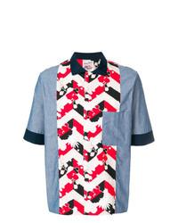 MAISON KITSUNÉ Maison Kitsun Patchwork Shirt