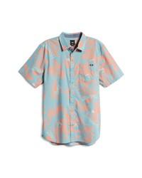 Vans Market Print Short Sleeve Button Up Shirt