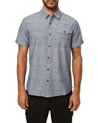 O'Neill Modern Fit Short Sleeve Button Up Chambray Shirt