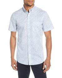 Nordstrom Men's Shop Nordstrom Shop Regular Fit Non Iron Floral Short Sleeve Shirt