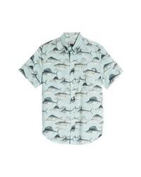 J.Crew Sailfish Fish Print Sport Shirt