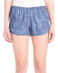 Tart Margot Printed Lyocell Chambray Shorts