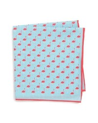 Southern Tide Fenwick Flamingo Cotton Silk Pocket Square