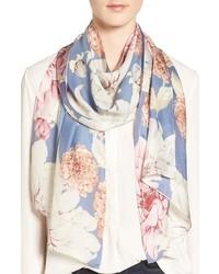 Echo Cascading Floral Print Silk Scarf