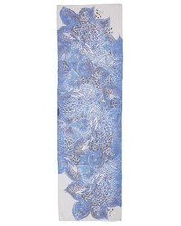 St. John Collection Lotus Blossom Print Silk Scarf