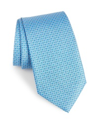 Salvatore Ferragamo Energia Omega Print Silk Tie