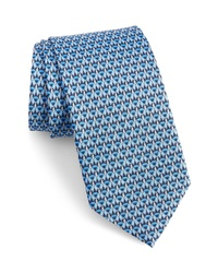 Salvatore Ferragamo Image Print Silk Tie