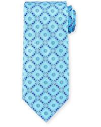 Stefano Ricci Medallion Print Silk Tie