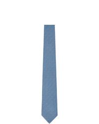 Salvatore Ferragamo Navy And Blue Gancini Tie