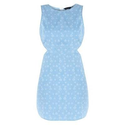 0d1081deae Exclusives New Look Light Blue Daisy Print Cut Out Side Denim Dress ...