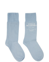 Stella McCartney Blue Shared Obs 23 Socks