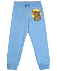Mini Rodini Wolf Print Organic Cotton Jogging Pants