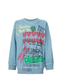 Light Blue Print Sweatshirt