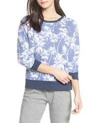 Light Blue Print Sweatshirt