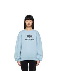 Balenciaga Blue Bb Logo Sweatshirt