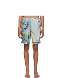 Givenchy Blue Icarus Classic Swim Shorts