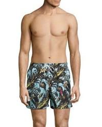 Salvatore Ferragamo Foliage Printed Swim Shorts