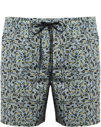 Fendi Garden Print Long Length Swim Shorts