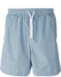 Kiton Circle Print Swim Shorts