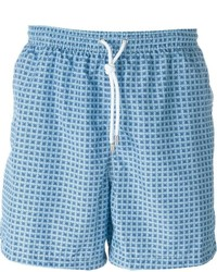 Kiton Square Print Swim Shorts