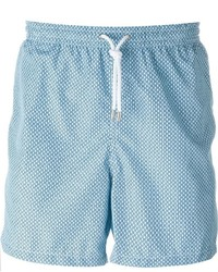 Kiton Wavy Print Swim Shorts