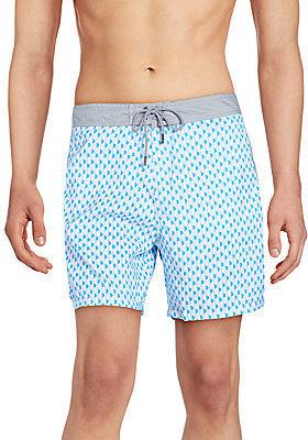 228185a6e8 Mr.Swim Bumps Printed Swim Trunks, $65   Off 5th   Lookastic.com