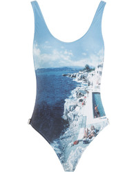 Orlebar Brown Roc Pool Photographic Signature Cutaway One Piece