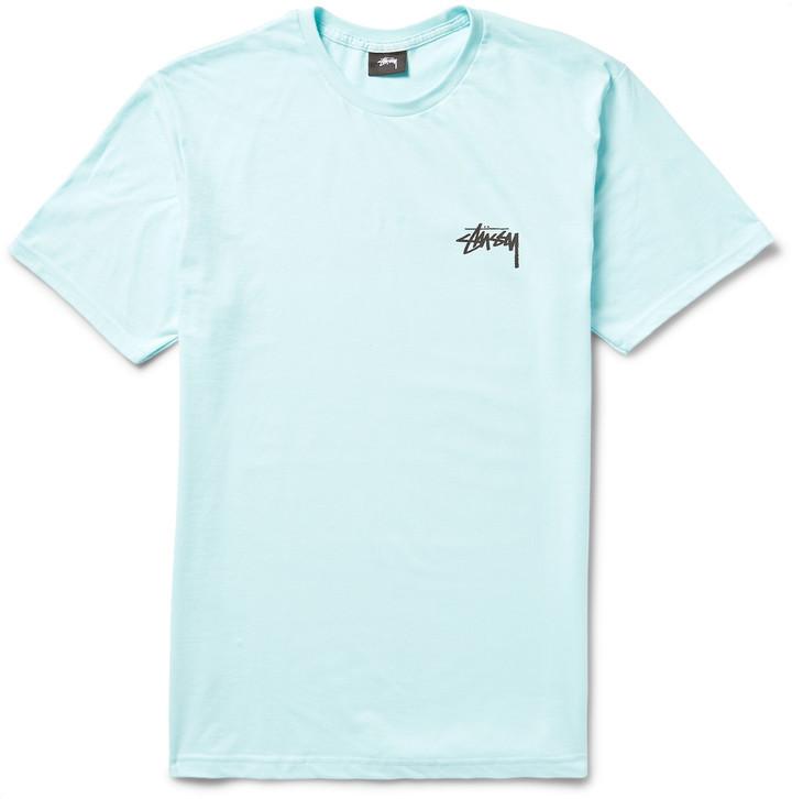 963166f785633a Stussy Stssy Palm Tree Print Cotton Jersey T Shirt, $30 | MR PORTER ...