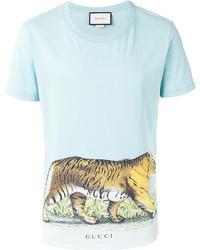 a550f957 Men's Light Blue T-shirts by Gucci | Men's Fashion | Lookastic.com