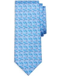 Light Blue Print Tie