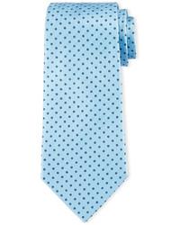 Armani Collezioni Neat Circle Dot Print Tie Light Blue