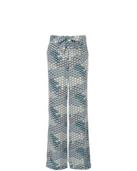 Equipment Waves Pattern Wide Legged Trousers