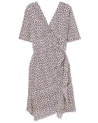 Isabel Marant Arodie Wrap Effect Printed Dress