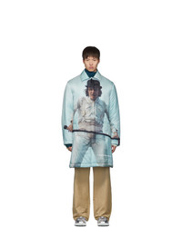 Undercover Grey A Orange Alex Print Coat
